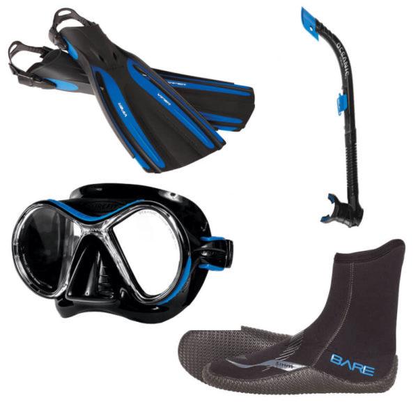 ABC Ausrüstungsset schwarz blau