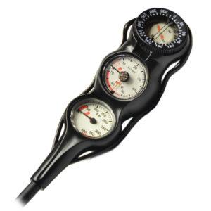 Slim Line Manometer + Tiefenmesser und Kompass in Linie